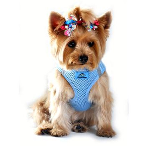 American River Solid Ultra Choke Free Dog Harness - Light Blue
