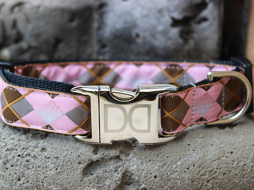 Argyle Collar - Metal Buckles