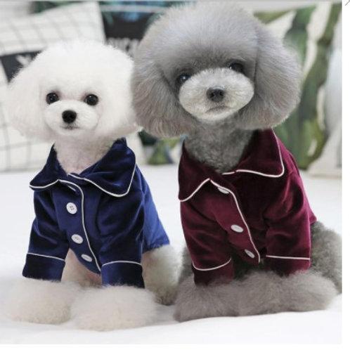 Velvet Dog Pajama Shirt