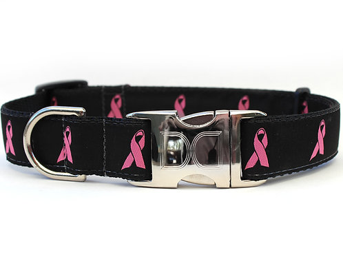 Breast Cancer Awareness Collar - Black