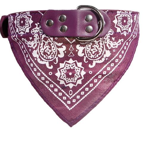Bandana Dog Collar - Purple