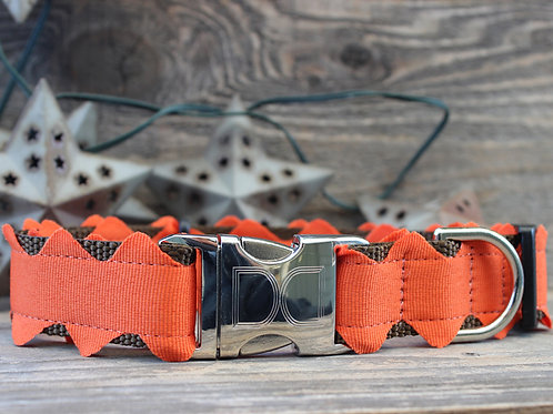 Brick-a-Bark Collar -Orange