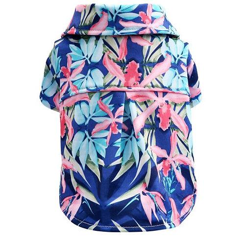 Seaside Resort Hawaiian Dog Shirt