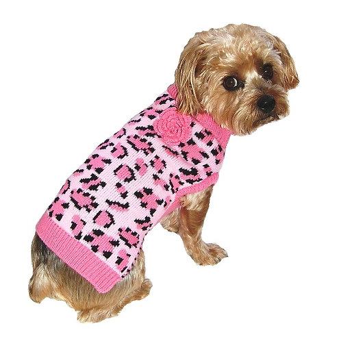 Lovin' Leopard Sweater - Pink
