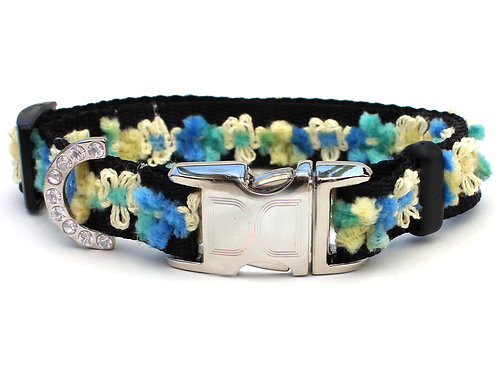 Coco Blue Teacup Dog Collar & Leash