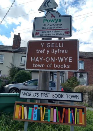 into Wales at Hay!