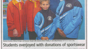 From the Kalgoorlie Miner : Students overjoyed with donations of sports wear