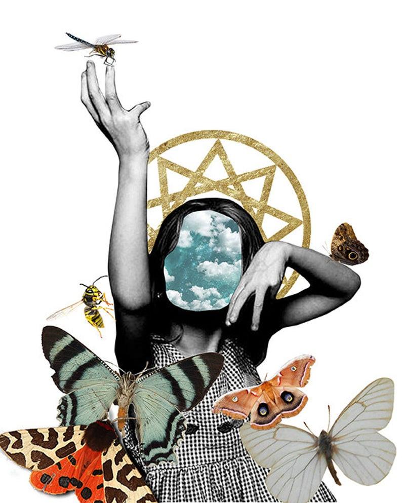 Baby Witches digital print by Elfie Kalfakis