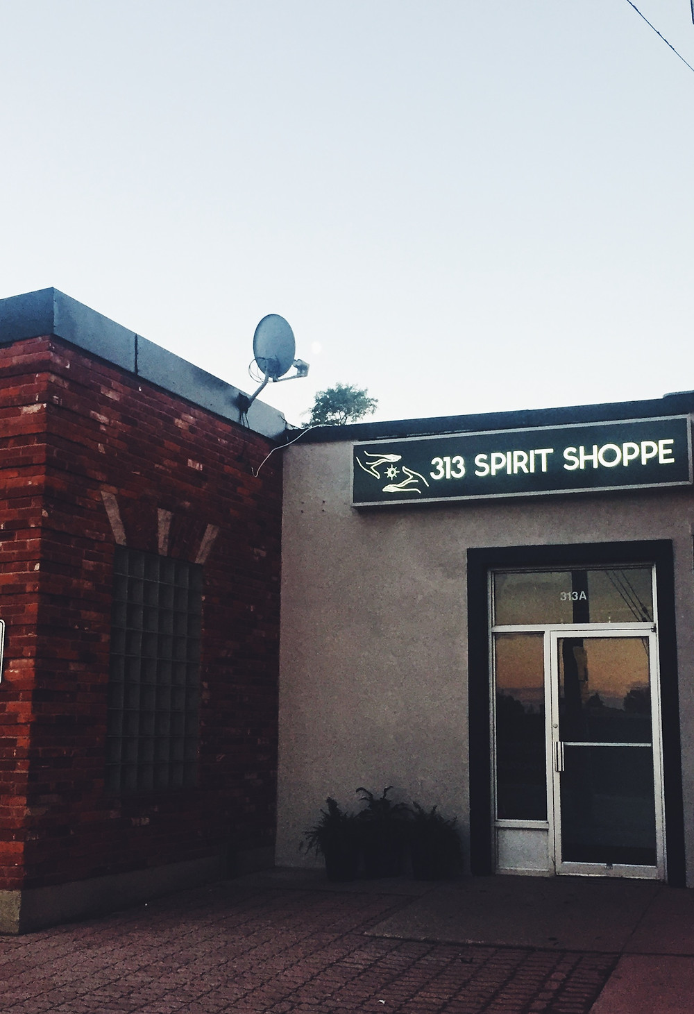313 Spirit Shoppe at it's former location of 313A Hurontario Street in Collingwood