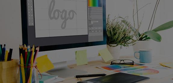 logo design on computer on laptop