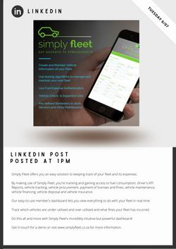 Simply Fleet Social Media Management