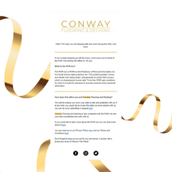 Conway Email Newsletter