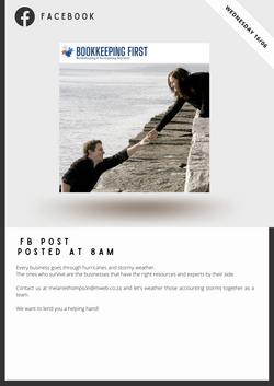 Bookkeeping First Social Media Marketing