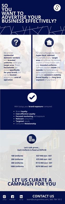 Suit Up Client Infographic Design