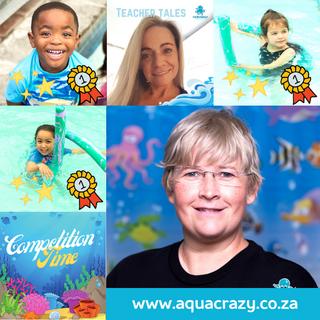 Aqua Crazy Social Media Marketing Collag