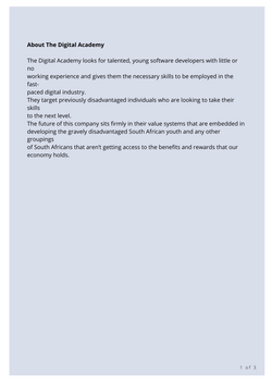Digital Academy Press Release