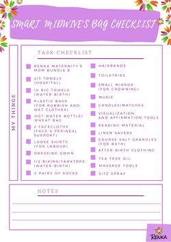 Renka's Smart Midwive's Bag Checklist