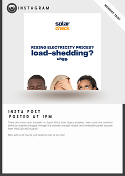 Solarcheck Social Media Marketing