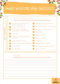 Renka's Smart Hospital Bag Checklist