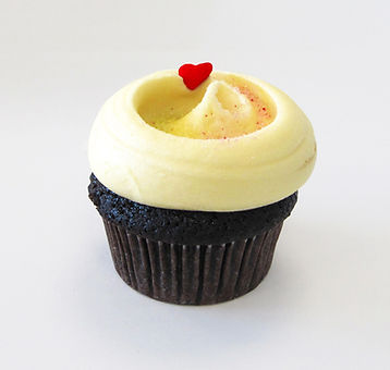 Chocolate Cupcake with Yellow Frosting