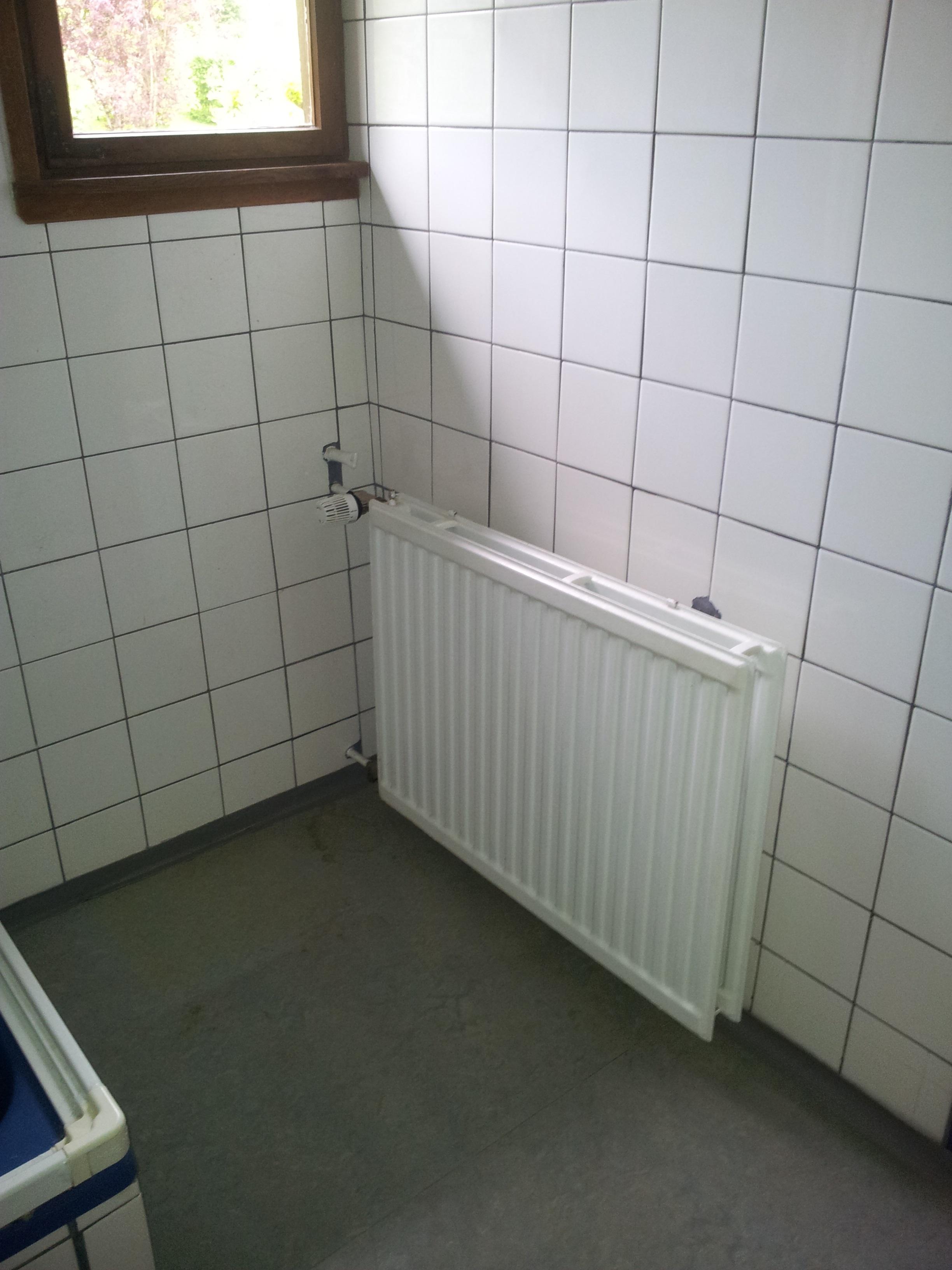 Plattenheizkörper im Bad