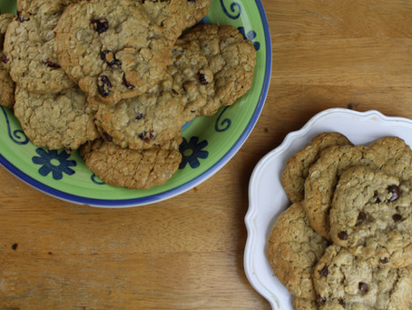 Easy, High Fiber Oatmeal Cookies