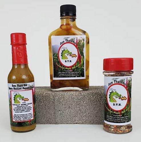 Honey Mustard Pepper Sauce - Caribbean Style Pique Hot Sauce - Hot Pepper Flakes