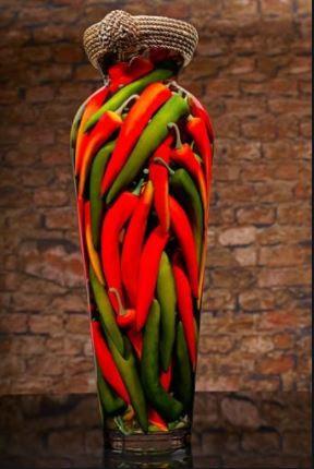 Chilli Pepper Immersed in Vinegar
