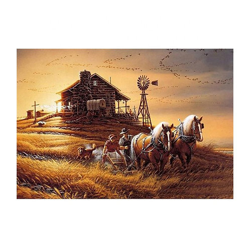Two Horses and Windmill