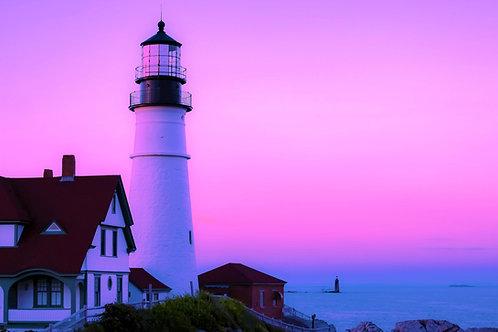 Pink Sky Lighthouse