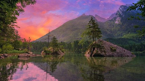 Sunset Lake Scene