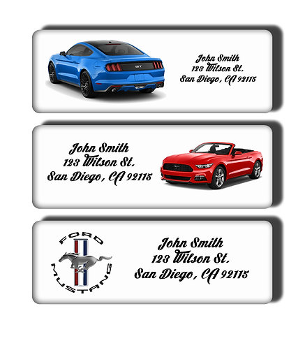 Ford Mustang New & Classic Muscle Cars Labels