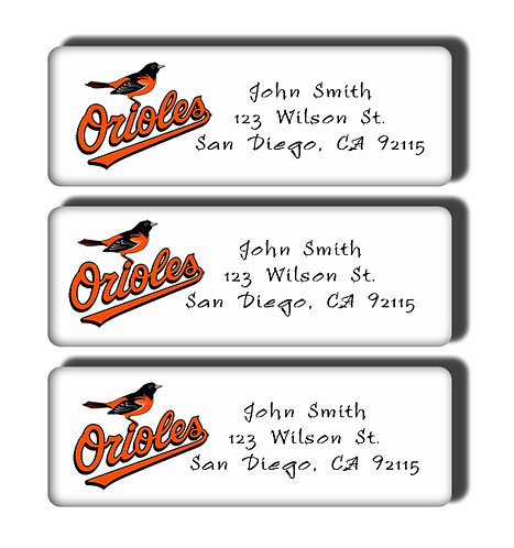 Baltimore Orioles Labels