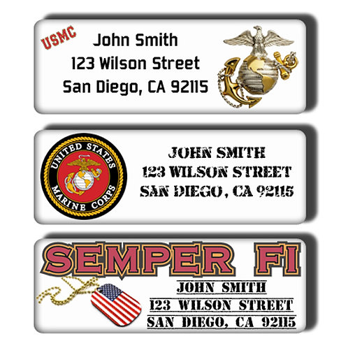 U.S. Marines Labels