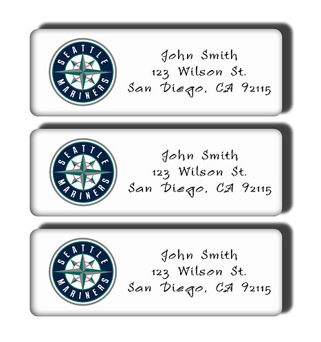 Seattle Mariners Labels
