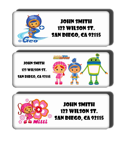 Team Umizoomi Labels