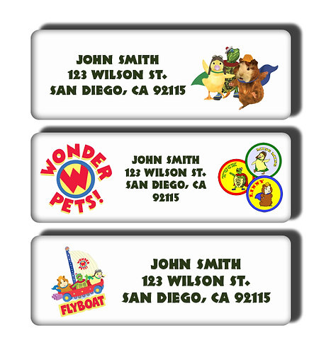 Wonderpets Labels