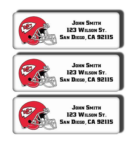 Kansas City Chiefs Labels