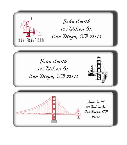 Golden Gate Bridge Labels