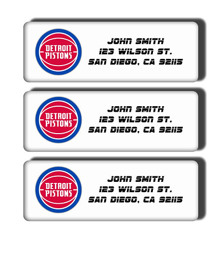 Detroit Pistons Labels