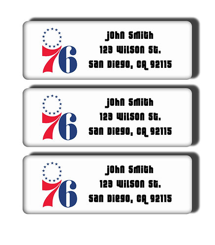 Philadelphia 76ers Throwback Labels