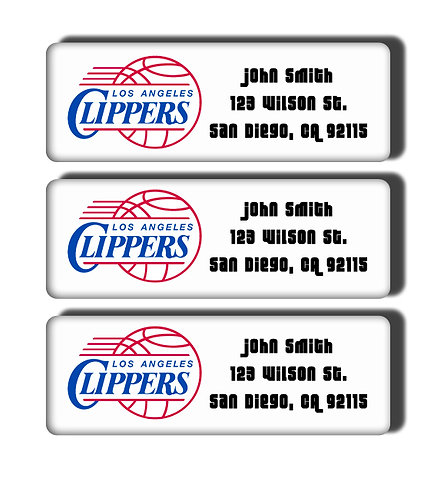 Los Angeles Clippers Throwback Labels