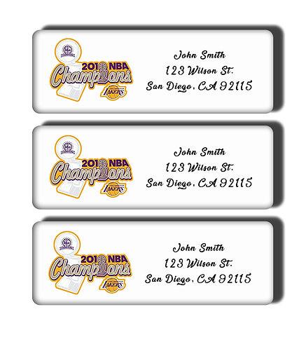 Los Angeles Lakers - 1972-2010 NBA Championship Labels
