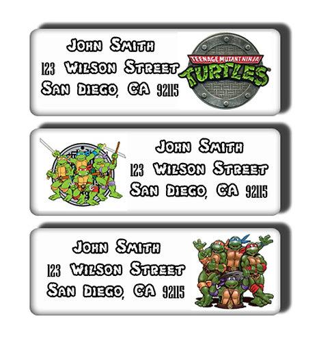 Teenage Mutant Ninja Turtles Labels