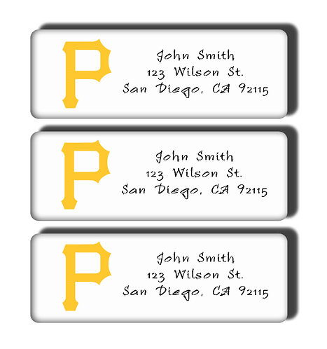 Pittsburgh Pirates Labels