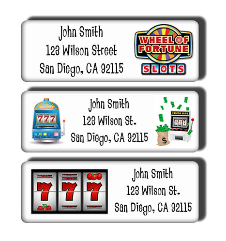 Slot Machine Gambling Labels