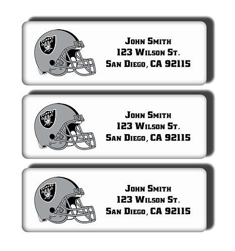 Oakland Raiders Labels