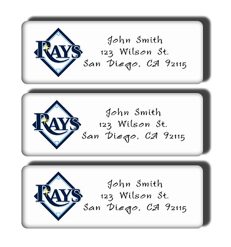 Tampa Bay Rays Labels