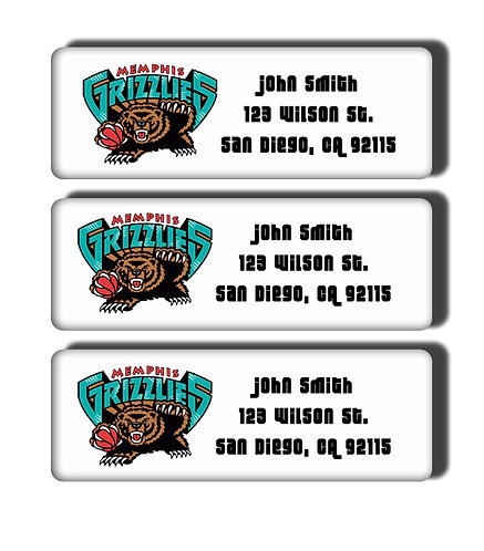 Memphis Grizzlies Throwback Labels