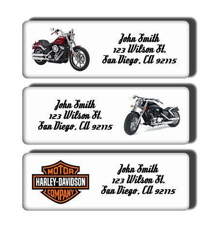 Harley Davidson Motorcycle Labels